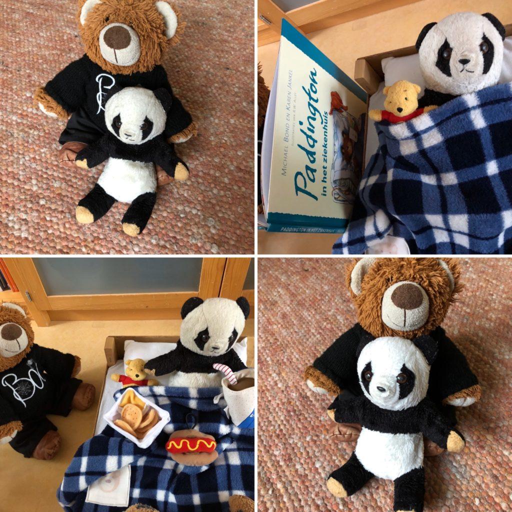 Panda met wasbeurt en kleine reparatie.